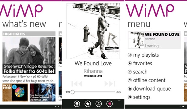 WiMP Scandinavian music streaming service comes to Windows Phone 7 1