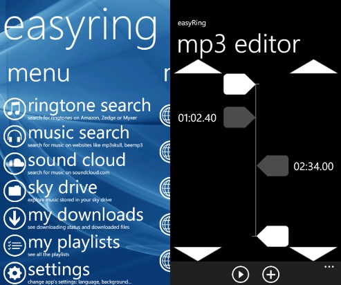 easyRing&Music For Windows Phone Allows You To Stream And
