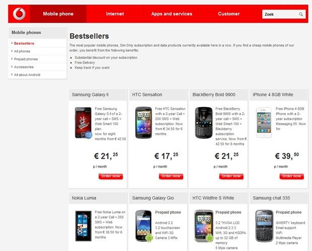 Nokia Lumia 800 also a Vodafone Netherlands best seller 3