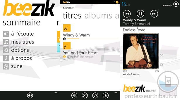 Windows Phone gets Beezik legal chart music for free app in France 1