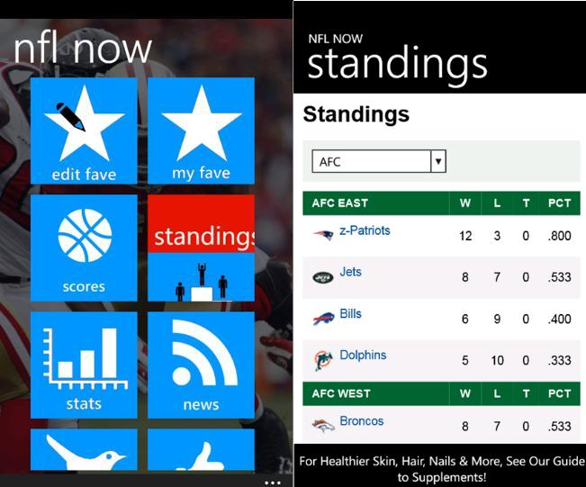 Keep Track Of Latest Scores Using Sports Now For Windows Phone 21