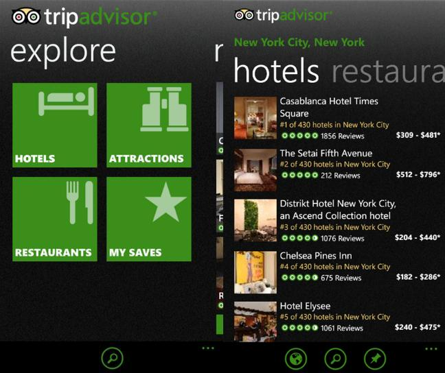 TripAdvisor App For Windows Phone Updated With New UI 19