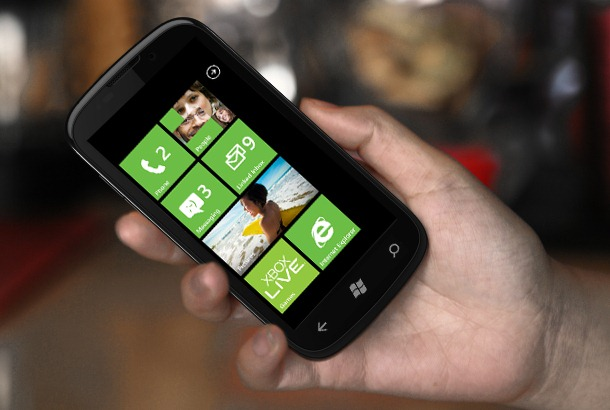 ZTE Mimosa Windows Phone mockup