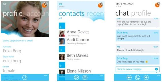 Skype updated on windows 10 mobile and windows phone 8. 1 with 'set.