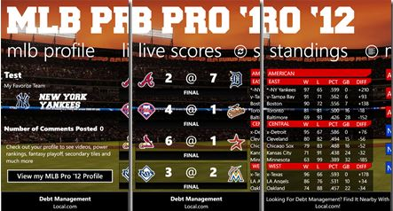 MLB Pro '12 Sports App Now Live In Windows Phone Marketplace 5
