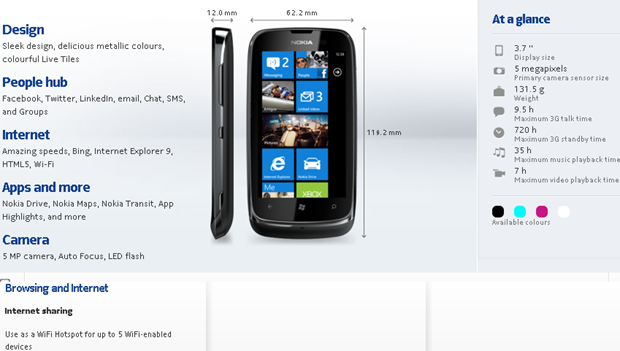 Nokia Lumia 610 Specifications - Nokia - India.htm_20120315143122