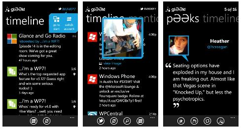 Gleek, Another Good Twitter Client For Windows Phone 7