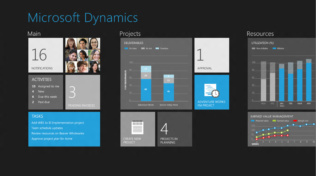 microsoft dynamics windows 8 app