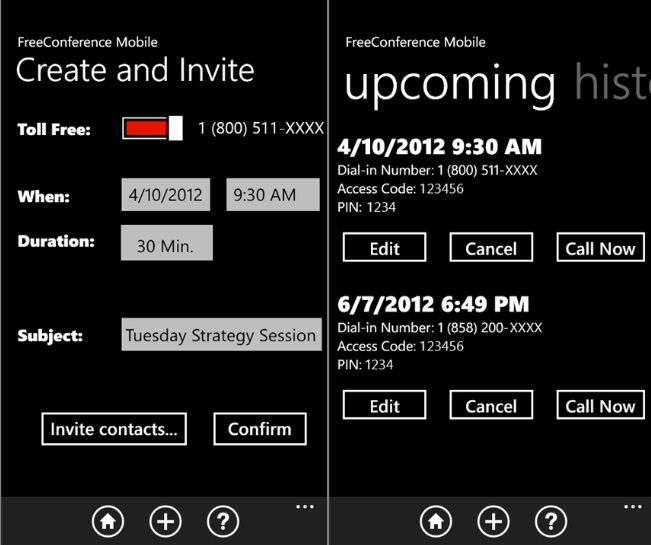 FreeConference Mobile App Now In Windows Phone Marketplace