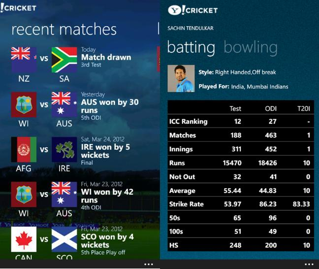 yahoo cricket app free download for android