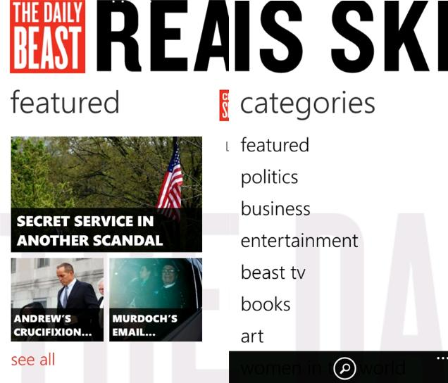 official the daily beast app now in windows phone marketplace
