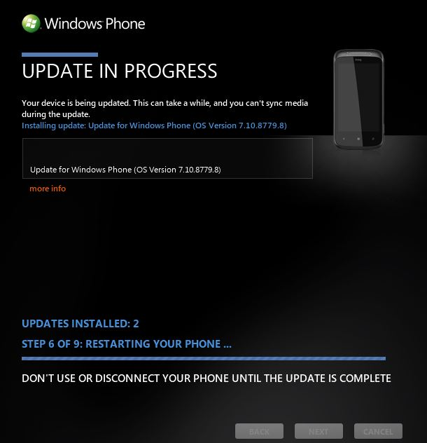 windows phone update mozart