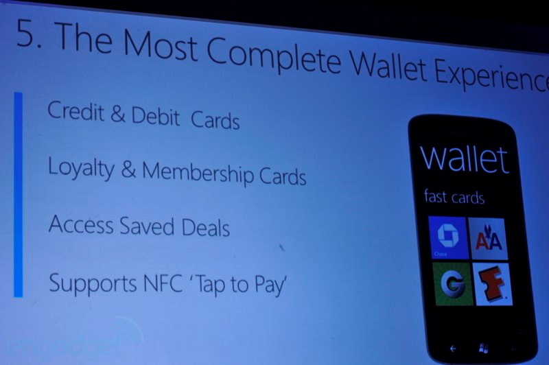 WIndows Phone 8 NFC Wallet Experience