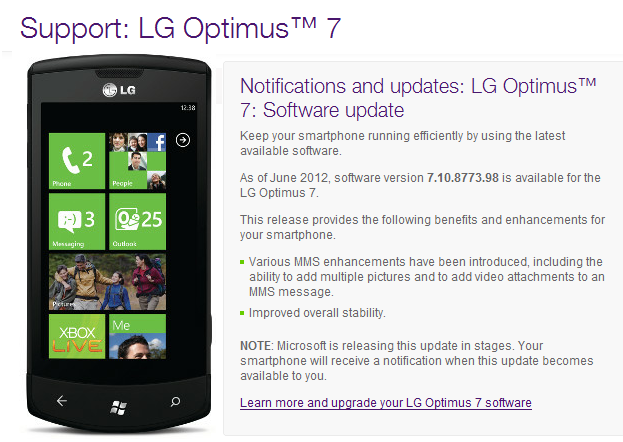 Telus says Tango for LG Optimus 7 now available 2