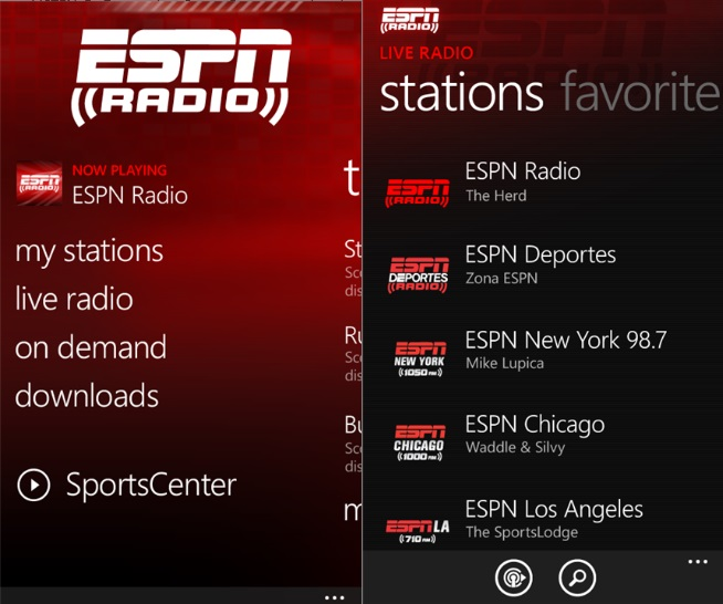 ESPN Radio App Now Avaialble To All Windows Phone Users