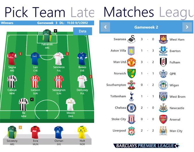 Fantasy English Premier League App Now In Windows Phone