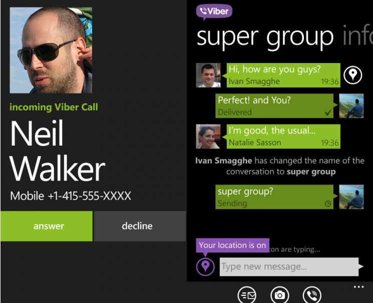 Viber For Windows Phone Adds HD Voice Calling And Group