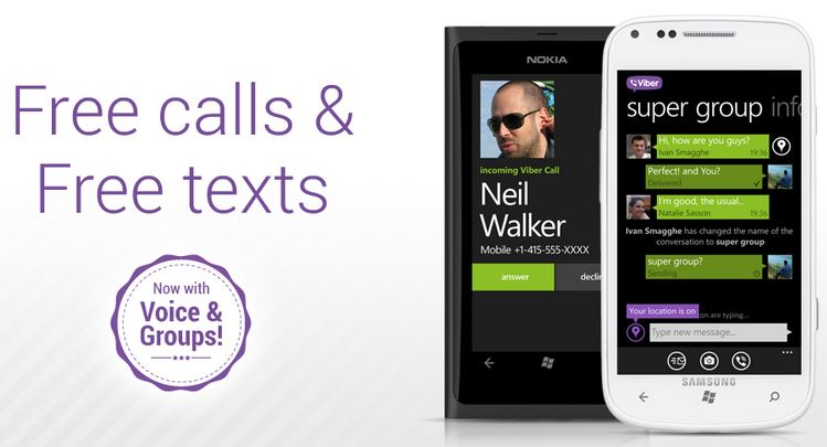 Viber For Windows Phone Adds HD Voice Calling And Group Messaging