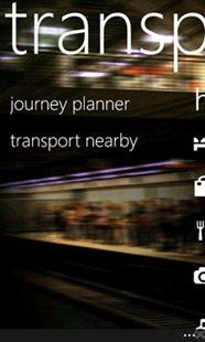 Nokia-Transport-menu