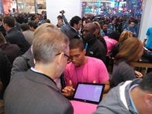 Lots of excitement in the #Microsoftstore Times Square