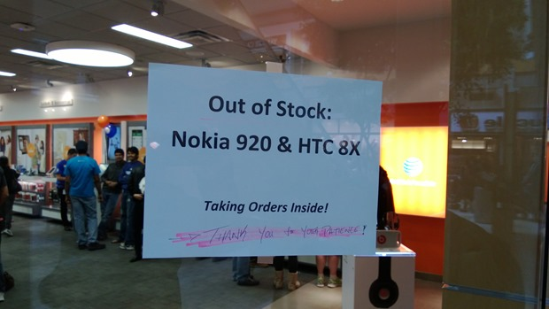 Microsoft Store Sold Out of Lumia 920!