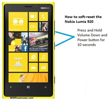 how to soft reset the nokia lumia 920