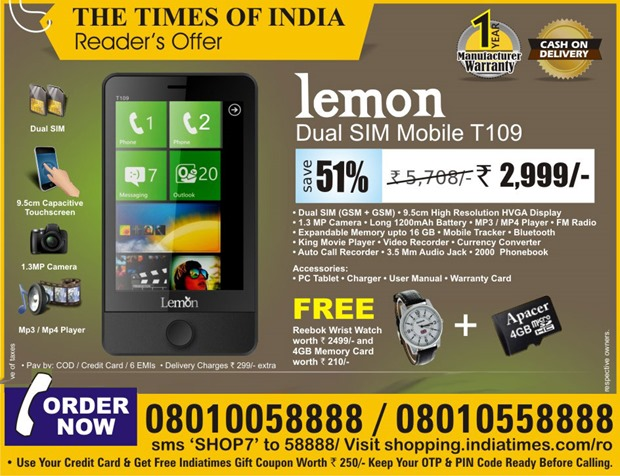 lemon-t109-dual-sim-mobile-watch-reebok-wrist-watch-worth-rs-2499-4gb-memory-card-worth-rs-210