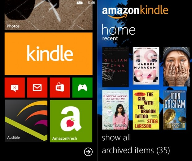 Amazon Kindle Windows Phone