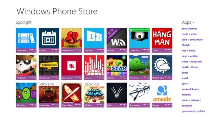Windows Phone Store app