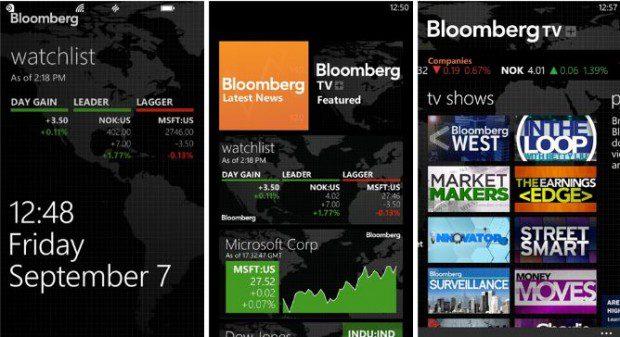 Bloomberg Windows Phone app