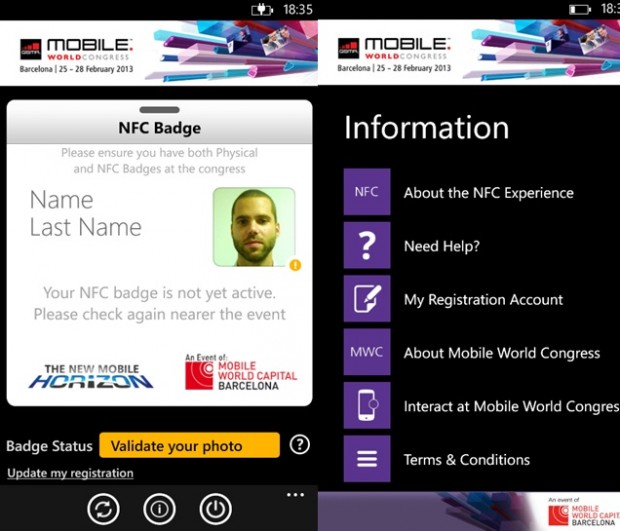 MWC Windows Phone app