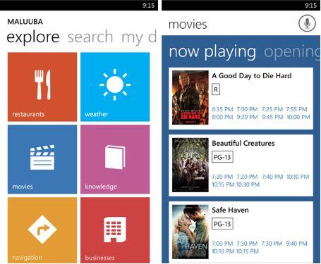 Maluuba Windows Phone app