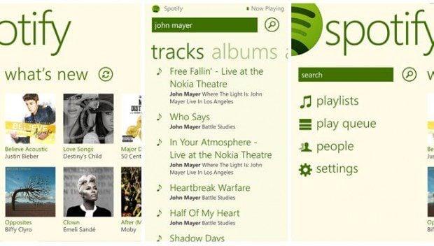 Spotify Windows Phone 8 app