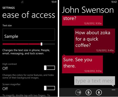Windows Phone 8 Accessibility