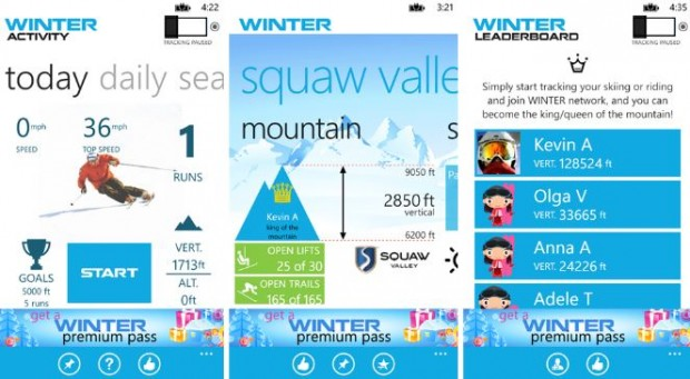 Winter Ski And Run Windows Phone app
