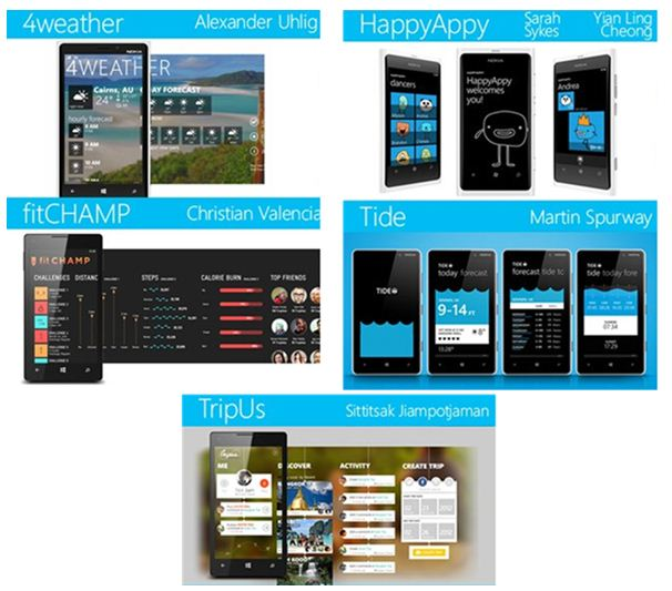 App to the future winners Windows Phone
