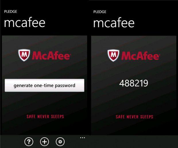 McAfee Pledge App