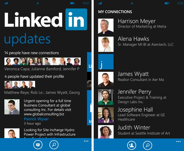 LinkedIn Windows Phone 8