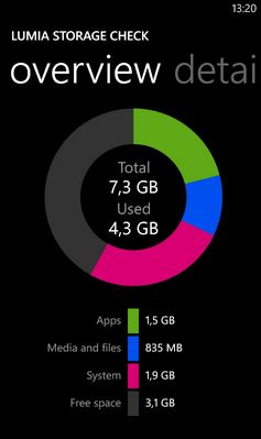 Lumia Storage Check App
