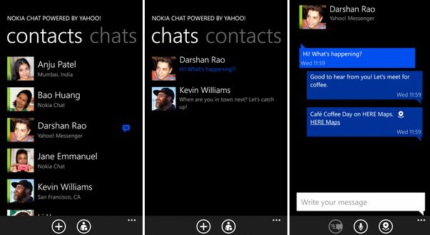 Nokia Chat Windows Phone