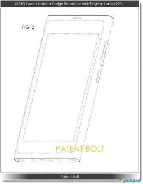 Nokia Lumia 920 Design Patent
