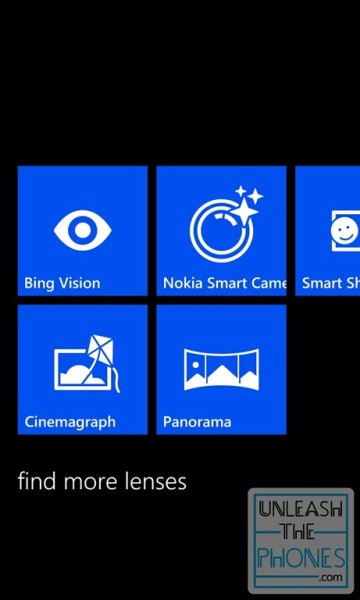 Nokia Smart Camera Lumia Windows PHone Lens