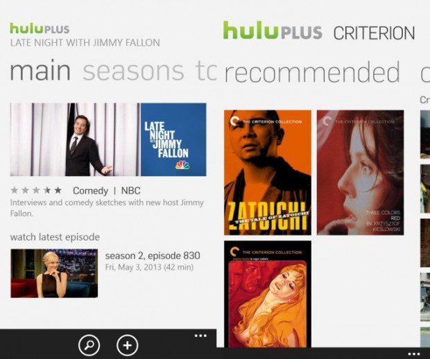 Hulu Plus Windows Phone