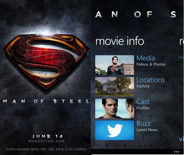 Man Of Steel Nokia Lumia Windows Phone app