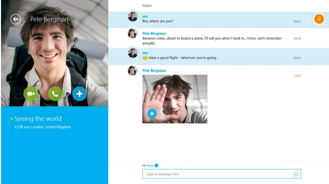 Skype Video Message Windows Store 1