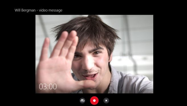 Skype Video Message Windows Store