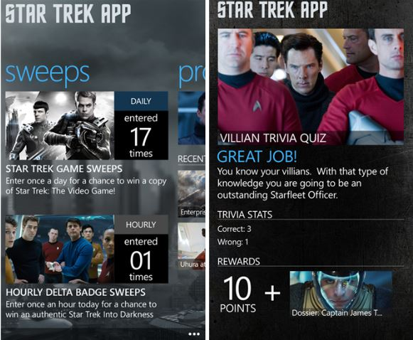 Star Trek App Windows Phone