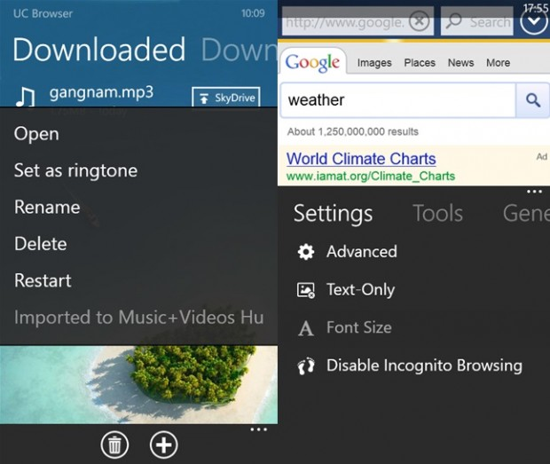 UCWeb Browser Windows Phone