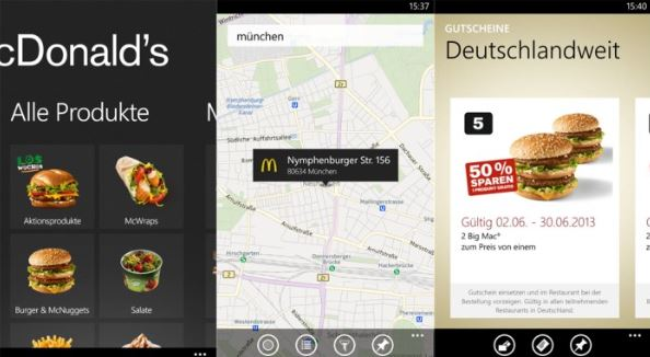 McDonald's German App