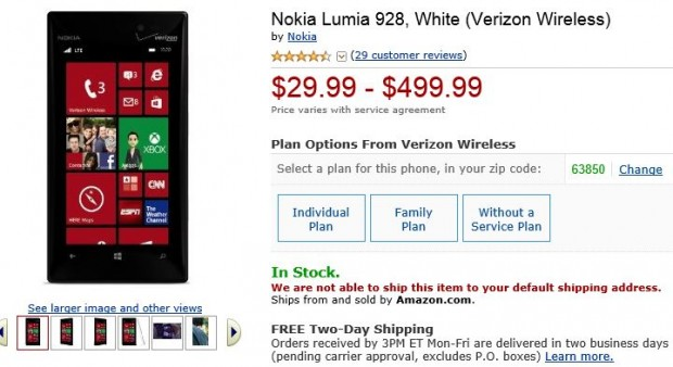 Nokia Lumia 928 Amazon